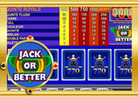 Machine à sous gratuite Casino 770 : Jack or Better.