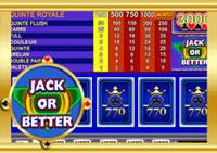 Machine à sous gratuite Casino 770 : Jack or Better.