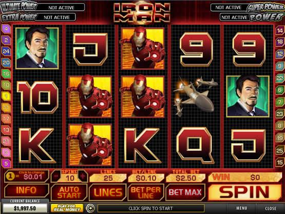 Iron Man, machine à sous de Playtech.