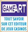 GameArt, un nouvel éditeur de machines à sous.