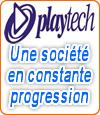 Logiciel Playtech, un leader international sur le marché des jeux de casino.