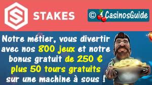 Stakes Casinso en français.