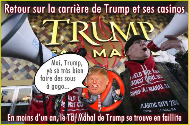 Trump et le Casino Taj Mahal.