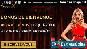 Casino Unique en français.