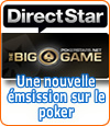 Lancement du Big Game sur Direct Star par PokerStars.