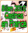 Les casinos français en dur toujours en déclin de chiffre d'affaires.