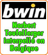 Norbert Teufelferger (BWIN) interpellé en Belgique garde son sang-froid, sûr de lui.