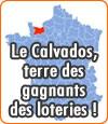 Le Calvados, département qui compte le plus de gagnants grâce aux loteries.