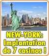 New-York mise sur les casinos : 7 implantations prévues.
