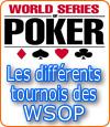 Les différents types de tournois des WSOP.