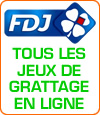 Tous les jeux de grattage en ligne de la Française des jeux.