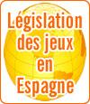 La législation des jeux d'argent en Espagne.