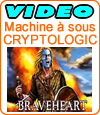Machine à sous Braveheart de Cryptologic (Amaya), jackpot Hollywood.