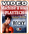 Rocky de Playtech, une machine à sous avec un jackpot d'un million d'euros.