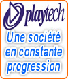 Playtech, une société leader en jeux de casinos.
