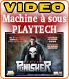 Punisher War Zone de Playtech, Frank Castle sur une machine à sous.