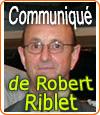 Sur Facebook, un comité de soutien à Robert Riblet s'est créé et fait le buzz.