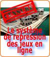 Le système de répression français contre les sites de jeux d'argent illégaux.