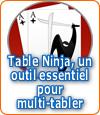 Les diverses fonctionnalités de Table Ninja.
