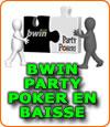 Bwin Party en baisse de fréquentation sur le marché du poker français.
