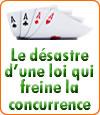 L'hécatombe des sites de poker en ligne français.
