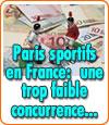 Paris sportifs en France, une trop faible concurrence engendre un exode des joueurs.