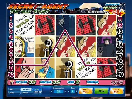 Secret Agent est une slot qui exploite le thème du polar.