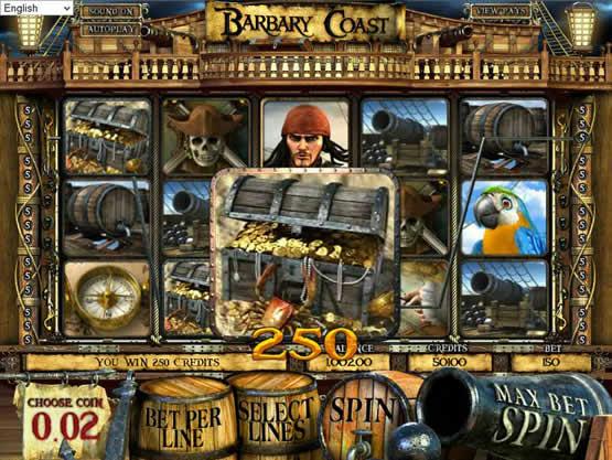 Barbary Coast, une machine à sous qui est dotée d'un faible jackpot.