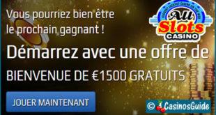 Avis : All Slots, casino en ligne Microgaming, ses bonus gratuits et ses jeux.