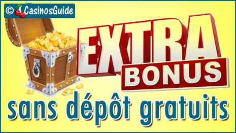 Bonus sans dépôt immédiats et gratuits des casinos en français.