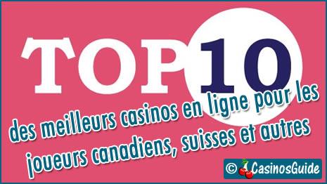 Meilleurs casinos en ligne Ecogra pour les joueurs du Canada, de Suisse et autres.