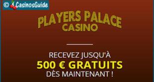 Players Palace Casino, 550 jeux Microgaming au programme et 500 €/$/£/C$ de bonus.