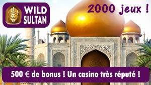 Wild Sultan Casino, un site réputé pour les slots !